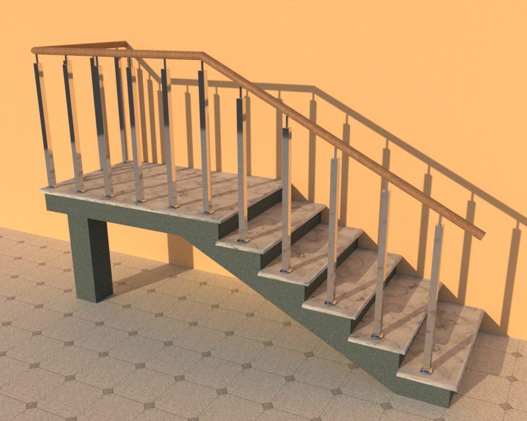 Перила из нержавеющей стали в Гродно. Ограждения для лестниц, козырьки и навесы для авто.